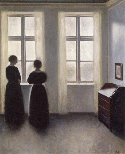 Vilhelm Hammershøi - Two Women at the Window
