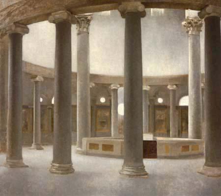 Vilhelm Hammershøi - Inside of the Church of Santo Stefano Rotondo, Rome