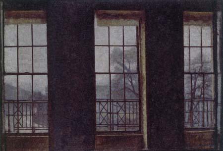 Vilhelm Hammershøi - Intérieur, Brunswick Square, Londres
