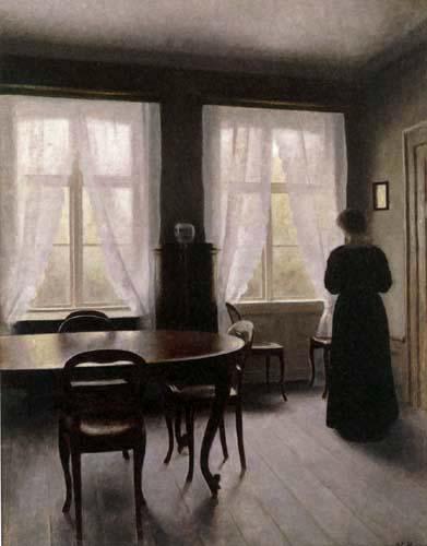 Vilhelm Hammershøi - Interior, Frederiksberg-Allé