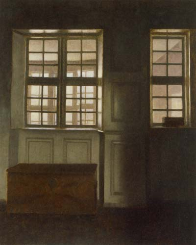 Vilhelm Hammershøi - Interior with a Outside View, Strandgade
