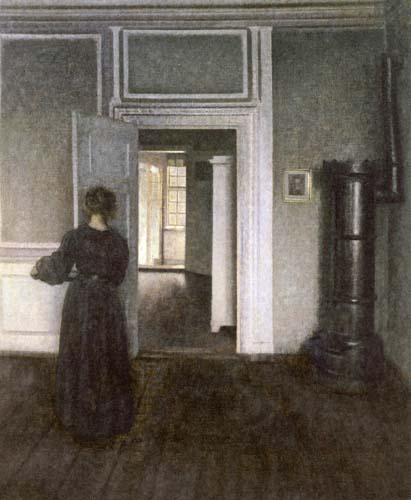 Vilhelm Hammershøi - Intérieur d'un four