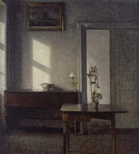 Vilhelm Hammershøi - Interior with a Potted Plant