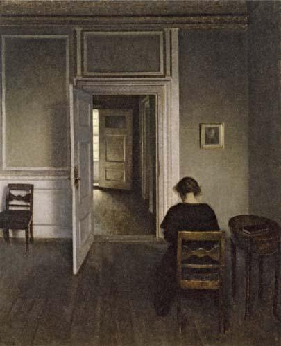 Vilhelm Hammershøi - Interior, Strandgade