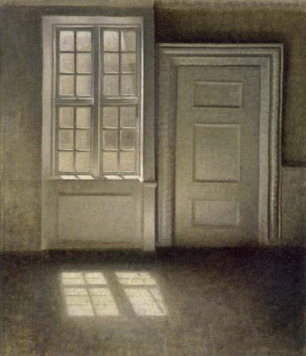 Vilhelm Hammershøi - Interior, Study in the Sunlight, Strandgade