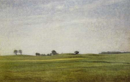 Vilhelm Hammershøi - Paysage, Gentofte