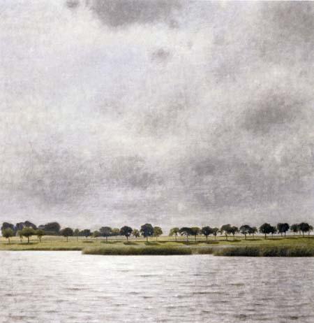 Vilhelm Hammershøi - Paysage au lac de Gentofte