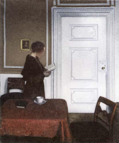 Vilhelm Hammershøi - Reading Woman, Strandgade