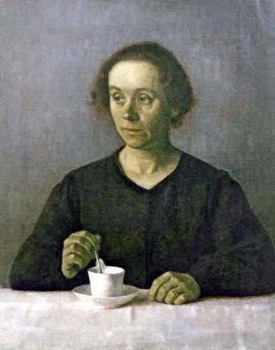 Vilhelm Hammershøi - Portrait d´Ida Hammershøi
