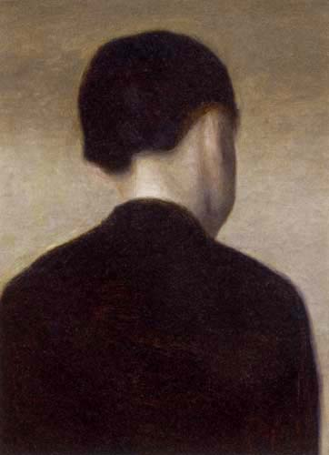 Vilhelm Hammershøi - Back View of a Young Woman