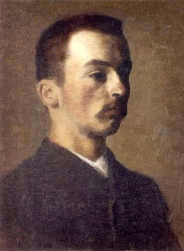 Vilhelm Hammershøi - Autoportrait