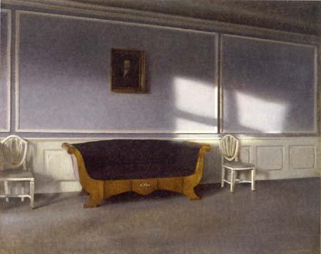 Vilhelm Hammershøi - Sunshine in the Salon