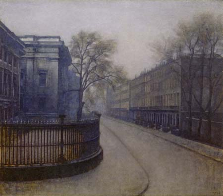 Vilhelm Hammershøi - A Street in London