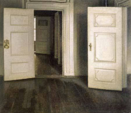 Vilhelm Hammershøi - Les portes ouvertes