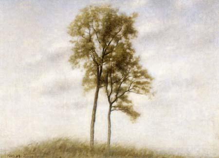 Vilhelm Hammershøi - Deux jeunes chênes
