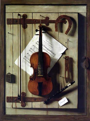 William Michael Harnett - Still Life with Violin and Music