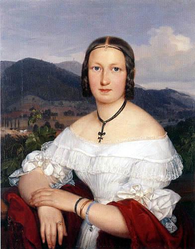 Joseph Hartmann - Portrait of Mrs. Leske