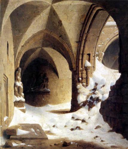 Carl Hasenpflug - Schneeverwehung in der Halberstadt Kathedrale