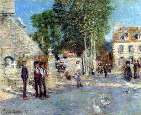 Childe Hassam - Nachmittags in Pont Aven, Bretagne