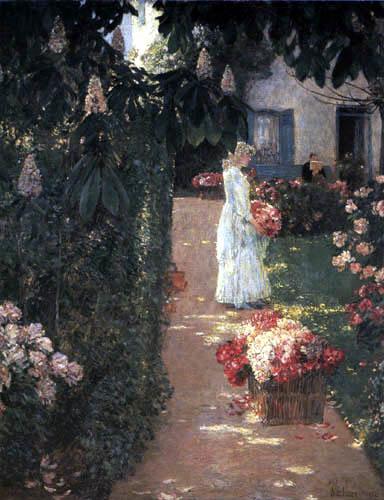 Childe Hassam - Französischer Blumengarten