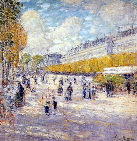 Childe Hassam - Die Tuilerien Gärten