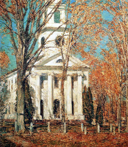 Childe Hassam - Church at Old Lyme, Connecticut