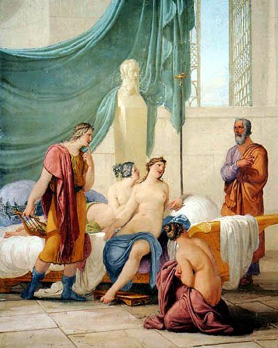 Francesco Hayez - Sokrates und Alkibiades