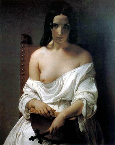 Francesco Hayez - Seated Nude