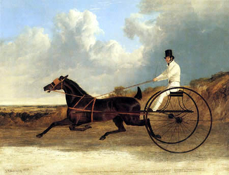 John Frederick Herring, Snr. - The american Trotter Rattler driven by Georg Osbaldeston