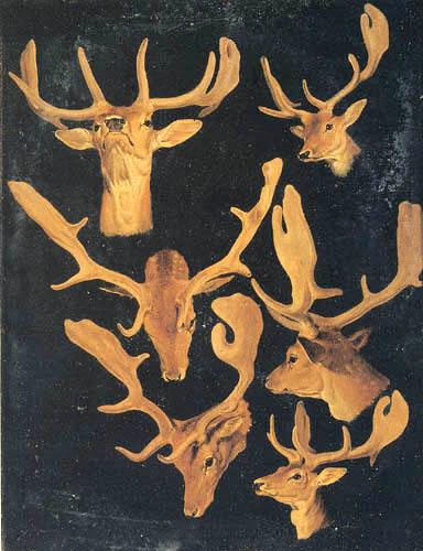 John Frederick Herring, Snr. - Fallow deer, Study