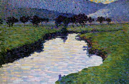 Curt Herrmann - River landscape, Pretzfeld