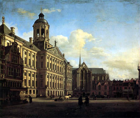 Jan van der Heyden (Heyde) - The new Town-hall of Amsterdam