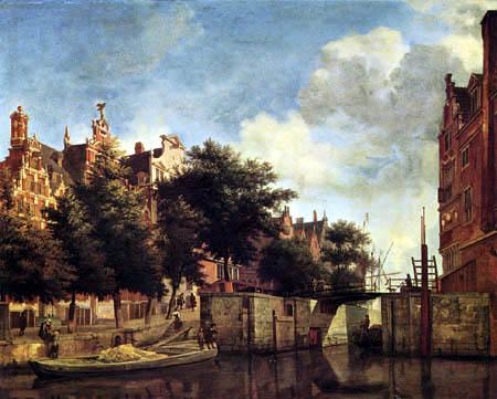 Jan van der Heyden (Heyde) - Martelaarsgracht of Amsterdam