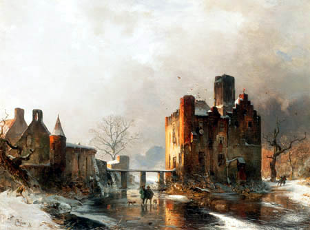 Carl Hilgers - Kastell Dornburg im Winter
