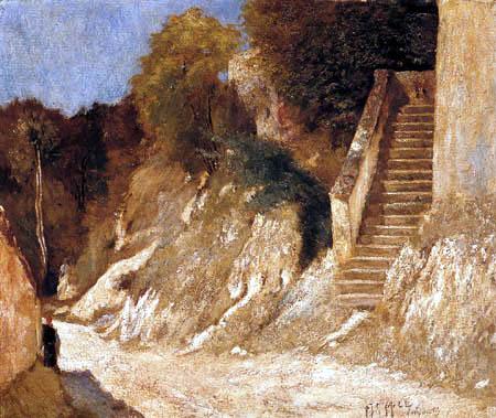 Carl Fredrik Hill - Cliff steps in Montigny sur Mer