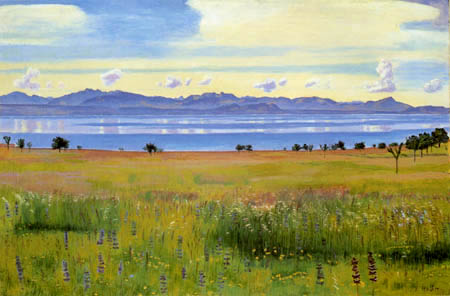 Ferdinand Hodler - The lake of Geneva