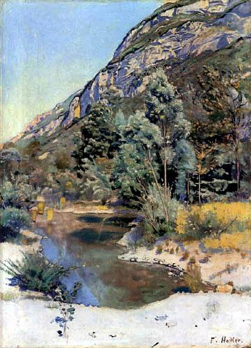 Ferdinand Hodler - At the beginning of the Mont Saleve