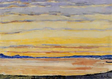 Ferdinand Hodler - Puesta del sol