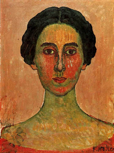 Ferdinand Hodler - The Red Portrait of Valentine Gode-Darel