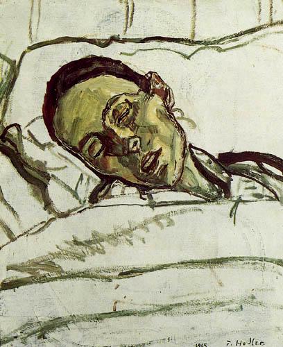 Ferdinand Hodler - Zur Seite gesunkener Kopf der Sterbenden