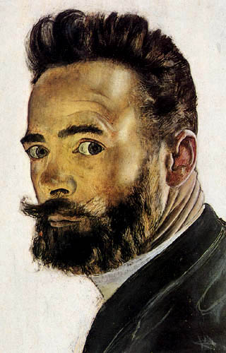 Ferdinand Hodler - Pariser Selbstbildnis, Detail