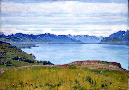 Ferdinand Hodler - Landschaft am Genfer See