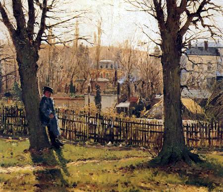Theodor von Hörmann - Landscape near Paris