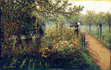 Theodor von Hörmann - The Painter in his Garden