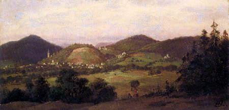 Heinrich Hofmann - View of Jugenheim