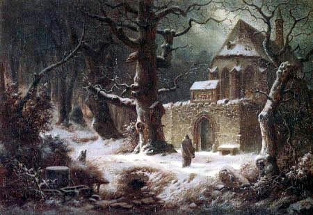 Heinrich Hofmann - Winter landscape