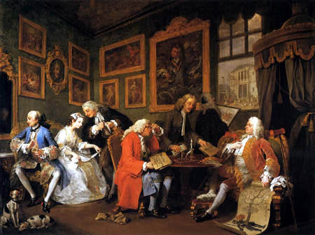 William Hogarth - Der Ehevertrag