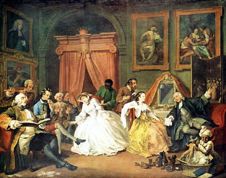 William Hogarth - Die Toilette