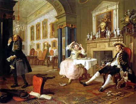 William Hogarth - Nach der Hochzeit
