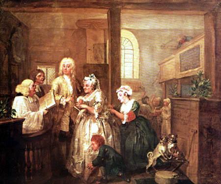 William Hogarth - The Marriage